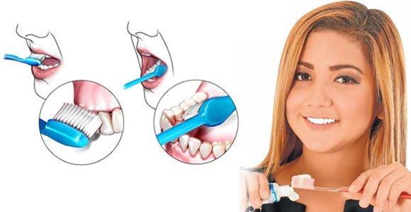 Buena higiene, dientes sanos pasta dental